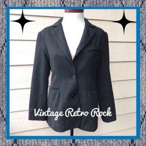 Bloomingdale's Dark Gray Blazer Jacket